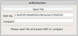 MD5checker